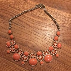 Coral gold statement necklace from Banana Republic